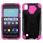LG X Power / K6 Hot Pink Inverse Advanced Armor Stand Protector Cover