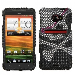 HTC EVO 4G LTE Skull Diamante Case