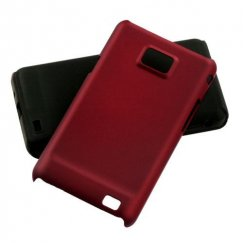Samsung Galaxy S2 Red Fusion Case - Rubberized