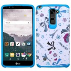 LG LG G Stylo 2 Plus Eiffel Towers/Ribbon/Blue Advanced Armor Protector Cover