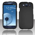 Samsung Galaxy S III, All Versions, Rubberized Snap On Cover, Black