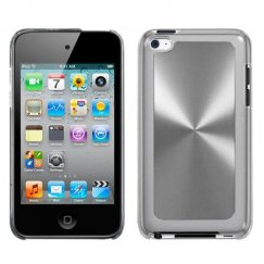 Apple iPod Touch (4th Generation) Silver Cosmo Back Case