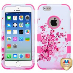 Apple iPhone 6/6s Spring Flowers/Electric Pink Hybrid Case