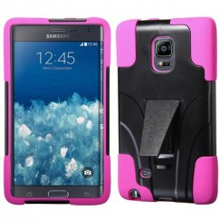 Samsung Galaxy Note Edge Hot Pink Inverse Advanced Armor Stand Case