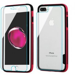 3-in-1 Surround Shield Combo (Hot Pink/Black Surround Shield + Tempered Glass Screen Protectors(front + back))