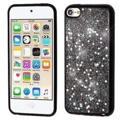 Apple iPod Touch (6th Generation) Silver Starry Sky (Black) Krystal Gel Series Candy Skin Cover