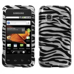 Samsung Galaxy Prevail Zebra Skin 2D Silver Case