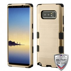 Samsung Galaxy Note 8 Gold Brushed/Black Hybrid Case Military Grade