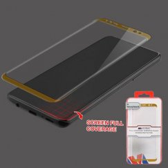 Samsung Galaxy S9 Full Coverage Tempered Glass Screen Protector/Gold