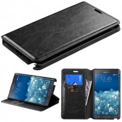 Samsung Galaxy Note Edge Black Wallet with Tray