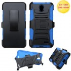 ZTE Chapel Black/ Blue Advanced Armor Stand Case with Black Holster