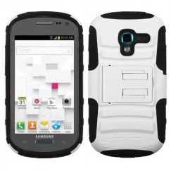 Samsung Galaxy Exhibit White/Black Advanced Armor Stand Case