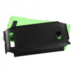 HTC Windows Phone 8x Black/Green Frosted Fusion Case