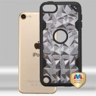 Apple iPod Touch (6th Generation) Transparent Smoke Polygon/Black Challenger Hybrid Case