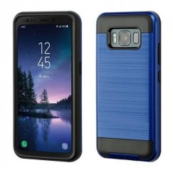 Samsung Galaxy S8 Active Dark Blue/Black Brushed Hybrid Case