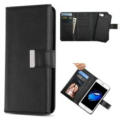 Apple iPhone 8 Black Detachable Magnetic 2-in-1 Wallet