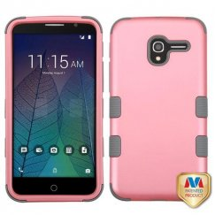 Alcatel Stellar / Tru 5065 Rubberized Pearl Pink/Iron Gray Hybrid Case