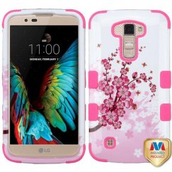 LG K10 Spring Flowers/Electric Pink Hybrid Case