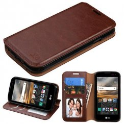 LG K3 LG-K3 Brown Wallet with Tray