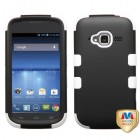 ZTE Concord 2 Rubberized Black/Solid White Hybrid Case