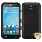 LG Optimus L90 Rubberized Black/Black Hybrid Case
