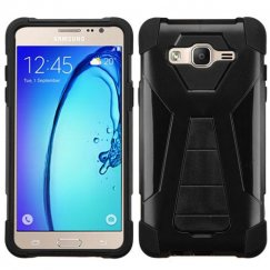 Samsung Galaxy On5 Black Inverse Advanced Armor Stand Case
