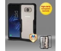 Samsung Galaxy S8 Natural Black Frame????? PC Back/Black Vivid Hybrid Protector Cover