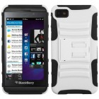 Blackberry Z10 White/Black Advanced Armor Stand Case