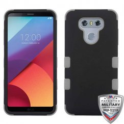 LG G6 Rubberized Black/Iron Gray Hybrid Case Military Grade