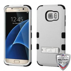 Samsung Galaxy S7 Edge Natural Gray/Black Hybrid Case with Stand