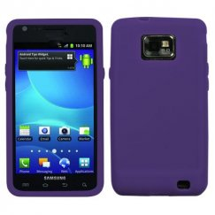 Samsung Galaxy S2 Solid Skin Cover - Purple