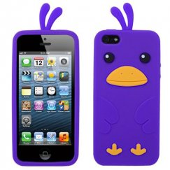 Apple iPhone 5c Electric Purple Chick Pastel Skin Cover