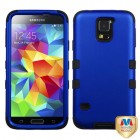 Samsung Galaxy S5 Titanium Dark Blue/Black Hybrid Phone Protector Cover