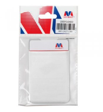 White Adhesive Card Pouch