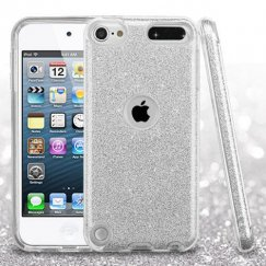 Apple iPod Touch (6th Generation) Silver Full Glitter Hybrid Case