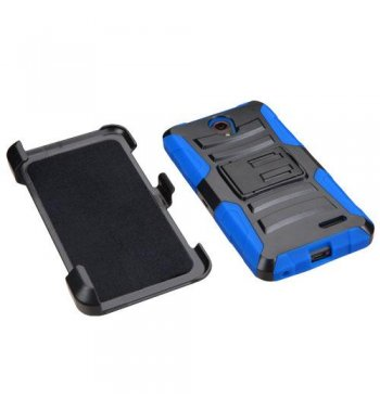 Black/ Blue Advanced Armor Stand Protector Cover Combo (with Black Holster)