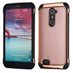 ZTE Grand X Max 2 Rose Gold Lychee Grain(Rose Gold Plating)/Black Astronoot Case