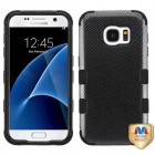 Samsung Galaxy S7 Carbon Fiber/Black Hybrid Case