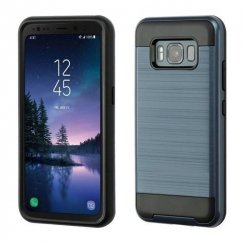 Samsung Galaxy S8 Active Ink Blue/Black Brushed Hybrid Case