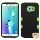 Samsung Galaxy S6 Edge Plus Rubberized Black/Electric Green Hybrid Case