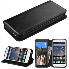 Alcatel One Touch Pop Astro Black Wallet with Tray
