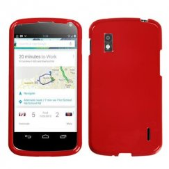 LG Nexus 4 Solid Flaming Red Case