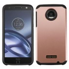 Motorola Moto Z Force Rose Gold/Black Astronoot Phone Protector Cover