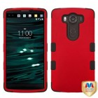 LG V10 Titanium Red/Black Hybrid Phone Protector Cover