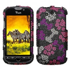 HTC myTouch 4G Puppy Lover Diamante Case
