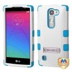 LG Escape 2 Natural Ivory White/Tropical Teal Hybrid Case with Stand