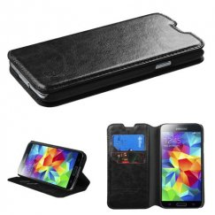 Samsung Galaxy S5 Black Wallet with Tray