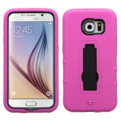 Samsung Galaxy S6 Black/Hot Pink Symbiosis Stand Case
