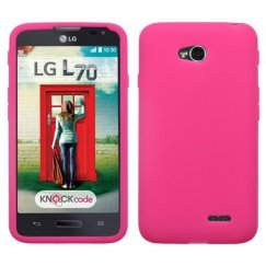 LG Optimus L70 Solid Skin Cover - Hot Pink