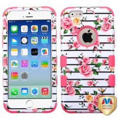Apple iPhone 6/6s Pink Fresh Roses/Electric Pink Hybrid Case